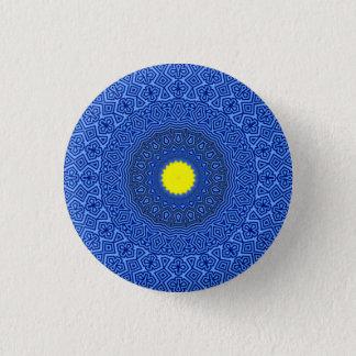 Kaleidoskop-Mandala in BEGRENZTER AUSGABE Runder Button 2,5 Cm