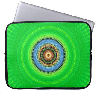 Kaleidoskop-Mandala in Portugal: Muster 224,5 Laptopschutzhülle