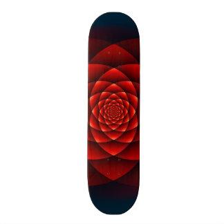 Kaleidoskop ROSEN-Rot + Ihre Idee 21,6 Cm Skateboard Deck