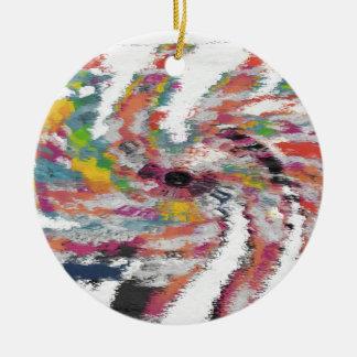 Kaleidoskop Rundes Keramik Ornament