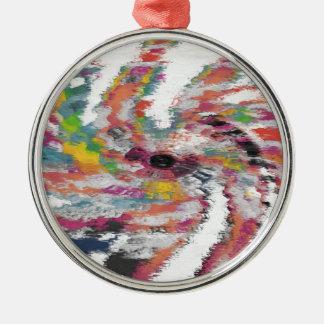 Kaleidoskop Rundes Silberfarbenes Ornament