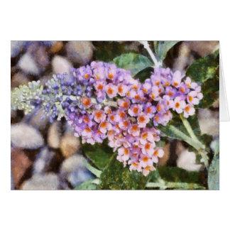 Kaleidoskop-Schmetterling Bush-Notecard Karte