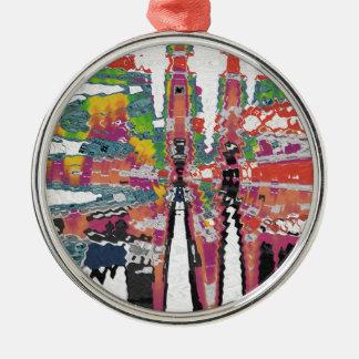 Kaleidoskop Silbernes Ornament
