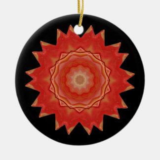 Kaleidoskop-Stern-Verzierung Rundes Keramik Ornament