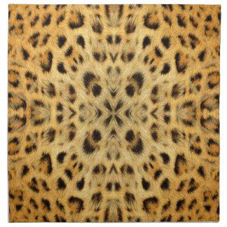 Kaleidoskop-Tierpelz-Muster Serviette