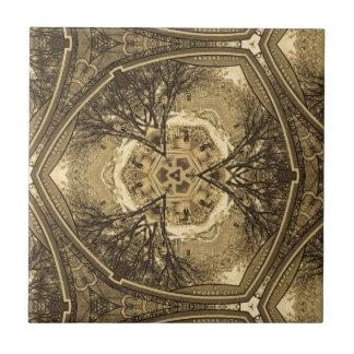 Kaleidoskop-Wiedergabe von einem Foto von meinem Fliese