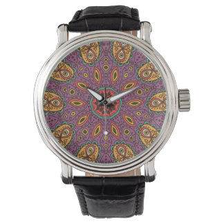 Kaleidoskop-Yoga-Muster Armbanduhr