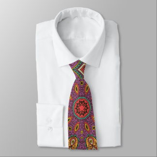 Kaleidoskop-Yoga-Muster Krawatte