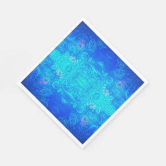 Kaleidoskopblau-/-aquaservietten Servietten