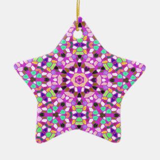 Kaleidoskophintergrund Keramik Stern-Ornament