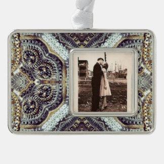 Kaleidoskopische graue Goldmedaillon steampunk Rahmen-Ornament Silber
