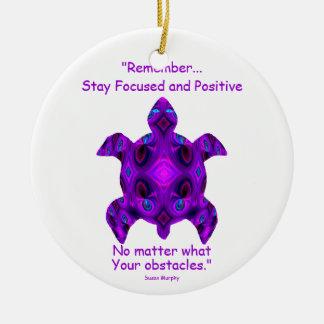 Kaleidoskopische Mandala-Schildkröte Ornament.6 Keramik Ornament
