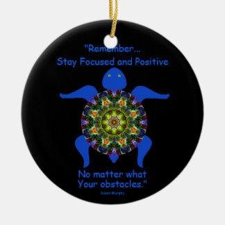 Kaleidoskopische Mandala-Schildkröte Ornament.8 Keramik Ornament