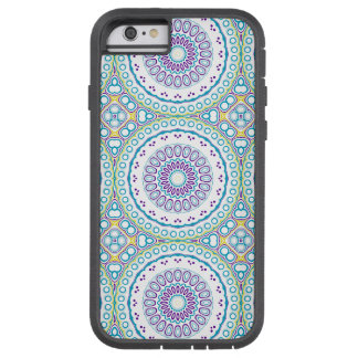Kaleidoskopisches Medaillon in Lila u. im Blau auf Tough Xtreme iPhone 6 Hülle