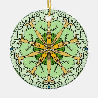 Kaleidoskoprotwild Keramik Ornament