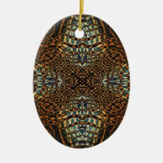 Kaleidoskoptiger-Pelzmuster Keramik Ornament