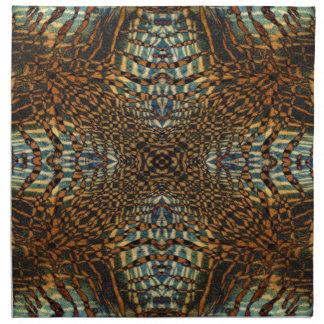 Kaleidoskoptiger-Pelzmuster Serviette