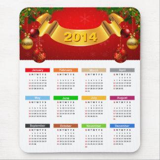 Kalender 2014 - Luxusrot-und Goldverzierungen Mauspad