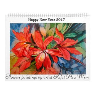 Kalender 2017 des glücklichen neuen Jahres der