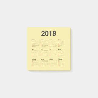 Kalender 2018 post-it klebezettel