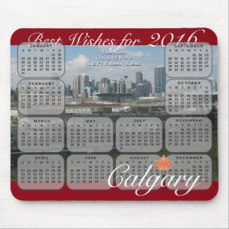 Kalender Calgarys 2016 Mauspads