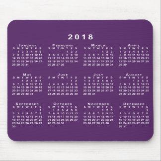 Kalender des Weiß-2018 auf kundenspezifischem lila Mousepad