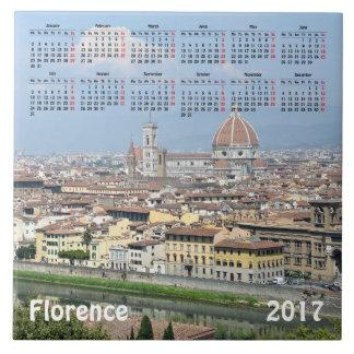 Kalender Florenz, Italien 2017 Fliese