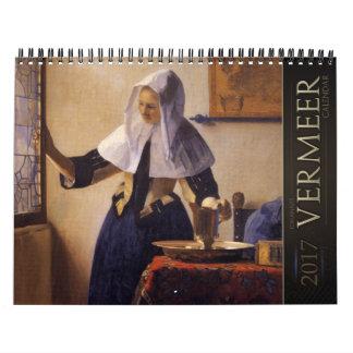 Kalender Jan.s Vermeer Malerei-2017