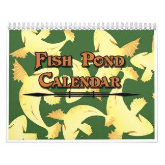 Kalender Koi Fisch-Teich - bunt