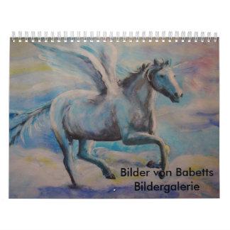Kalender mit gemalten Bildern
