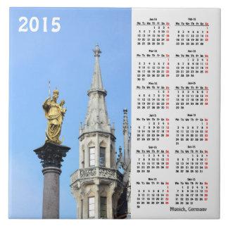 Kalender Münchens, Deutschland 2015 Keramikfliese