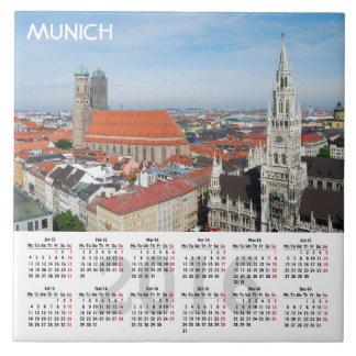 Kalender Münchens, Deutschland 2016 Fliese