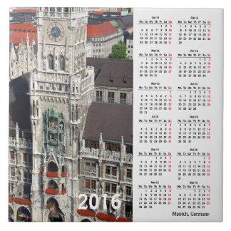 Kalender Münchens, Deutschland 2016 Keramikfliese