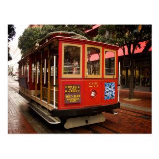 Kalender-Postkarte der San Francisco Drahtseilbahn Postkarten