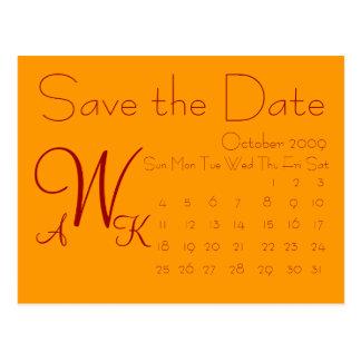 Kalender Save the Date Postkarte