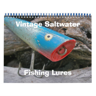 Kalender-Vintage Salzwasser-Fischen-Stecker Abreißkalender