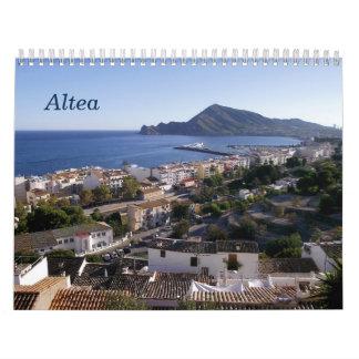 Kalender von Altea, Spanien,