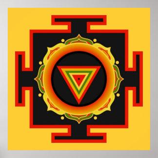 Kali Yantra Plakat