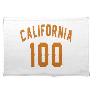 Kalifornien 100 Geburtstags-Entwürfe Stofftischset