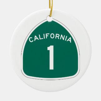 Kalifornien 1 keramik ornament