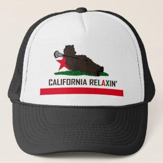 Kalifornien-BärLacrosse Truckerkappe