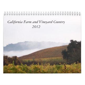 Kalifornien-Bauernhof und Weinberg-Land 2012 Abreißkalender