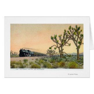Kalifornien begrenzte den Zug, der durch reist Karte