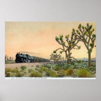 Kalifornien begrenzte den Zug, der durch reist Poster