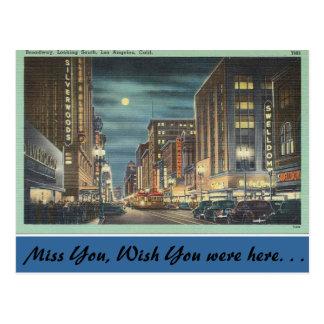 Kalifornien, Broadway, Los Angeles Postkarte