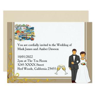 Kalifornien, das Hochzeits-Einladung träumt Karte