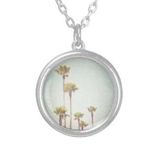 Kalifornien, das Retro Palme-Fotografie träumt Versilberte Kette