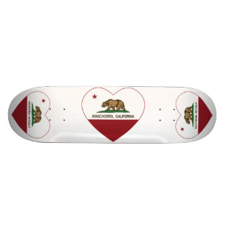 Kalifornien-Flagge atascadero Herz Personalisiertes Skateboard