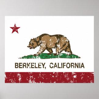 Kalifornien-Flagge Berkeley beunruhigt Poster