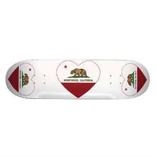 Kalifornien-Flagge brentwood Herz Personalisierte Skateboards